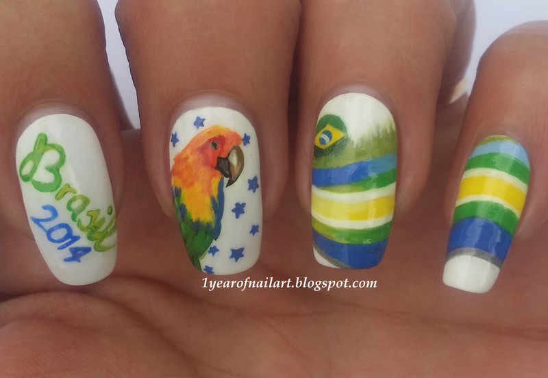 20 Nail Art Designs For 2014 Fifa World Cup Brazil Nailpolis Magazine