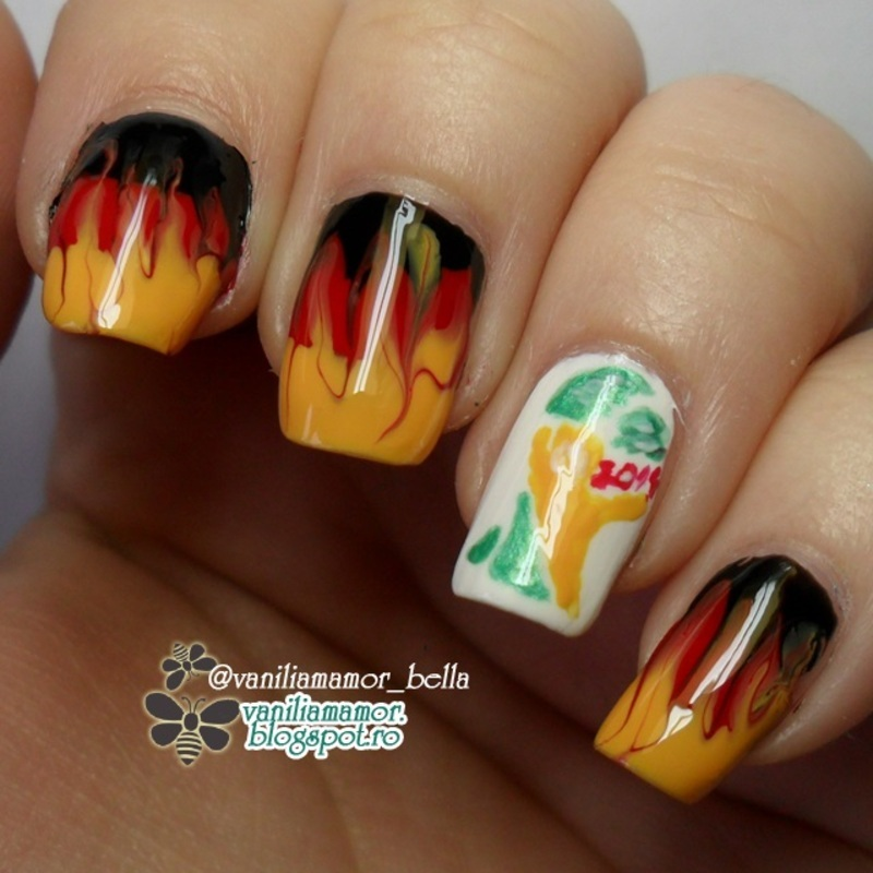 go Germany World Cup Nail Art