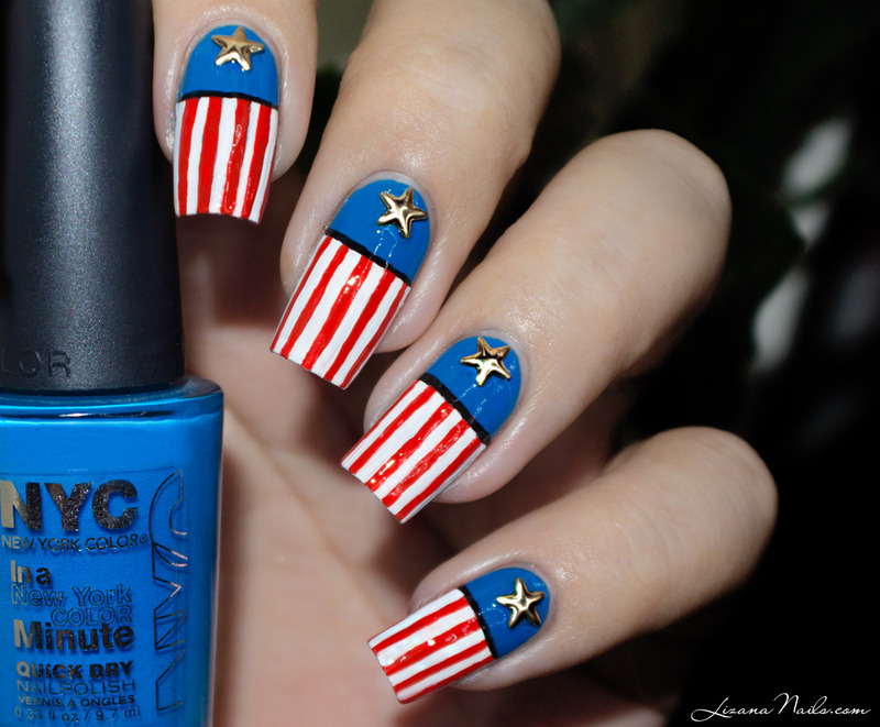 30 patriotic nail art designs for 4th of july nailpolis magazine independence day american flag nails by lizana nails prinsesfo Gallery