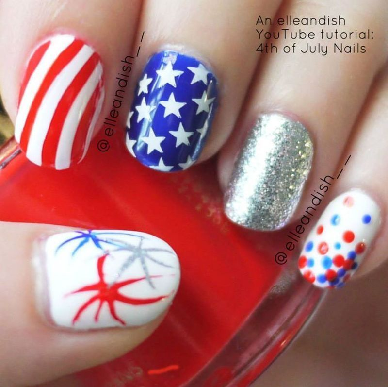 Fantastic Nail Art Designs For 4th Of July Frieze - Nail Art Ideas ...