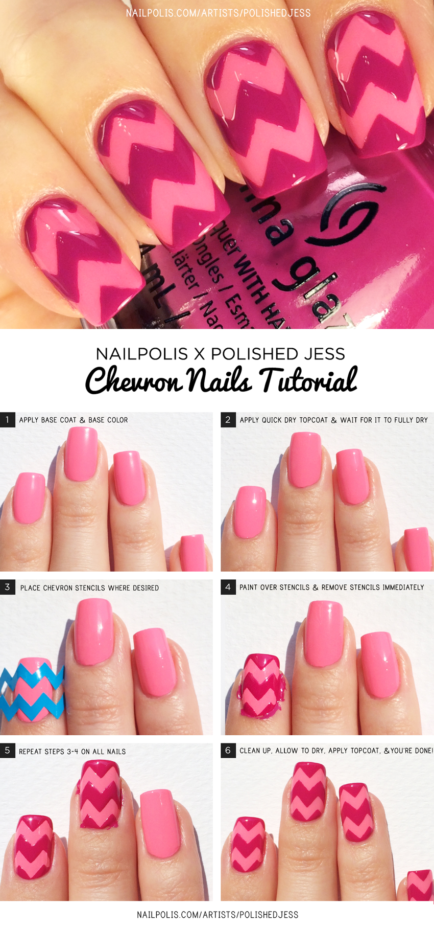 Chevron-Nails-Tutorial---Polished-Jess-&-Nailpolis