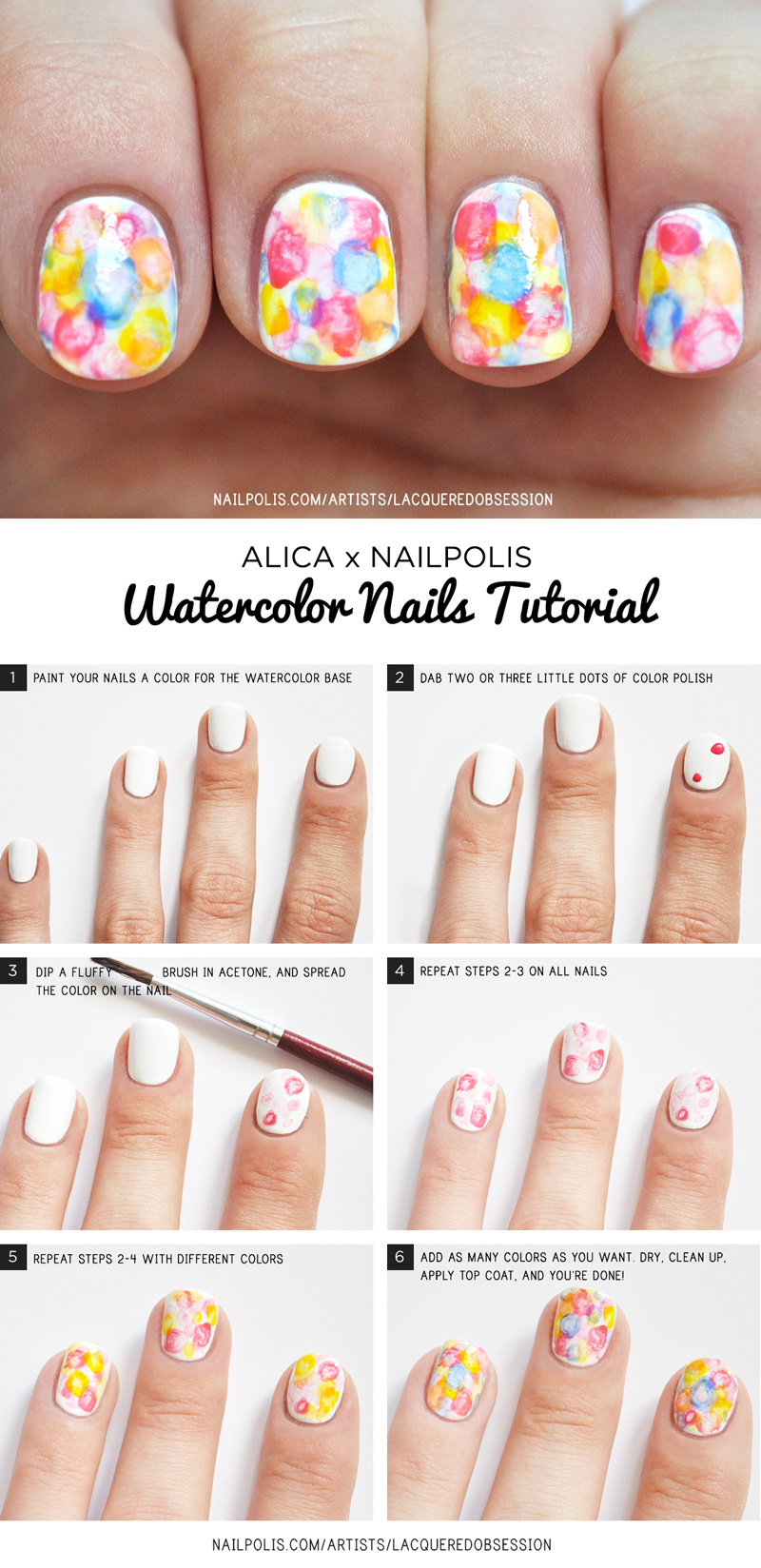 watercolor nail art | Nailpolis Magazine