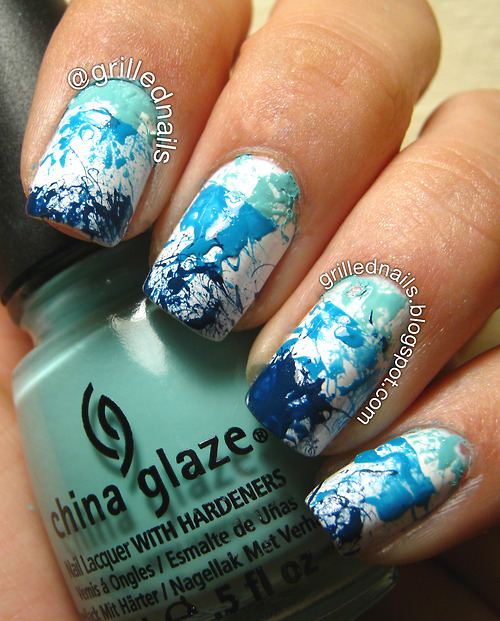 grilled nails splatter