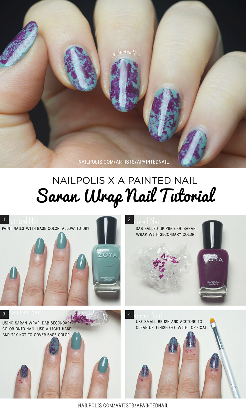 Saran-Wrap-Tutorial---Bridget-A-Painted-Nail